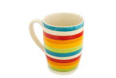 Rainbow cup isolated Royalty Free Stock Images