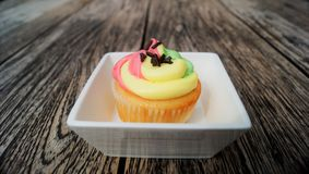 Rainbow cupcake Royalty Free Stock Images