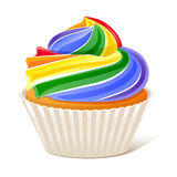 Rainbow Cupcake Love wins Stock Photo