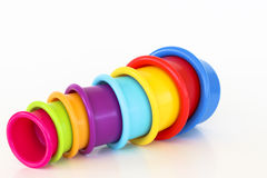 Rainbow Cups, spilling out Royalty Free Stock Images