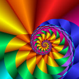 Rainbow Curl Stock Images