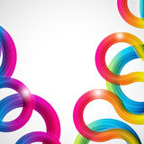 Rainbow Curls. Abstract Illustration. Royalty Free Stock Images