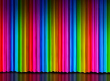 Rainbow Curtain on Theater Stage Stock Images