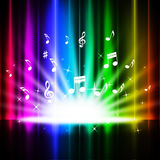 Rainbow Curtains Background Means Music Songs And Stage Stock Photo