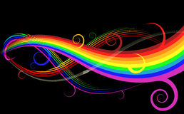 Rainbow curve Royalty Free Stock Image