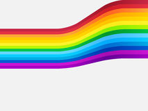 Rainbow curve background Royalty Free Stock Photo