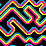Rainbow curve. Seamless pattern. Royalty Free Stock Image