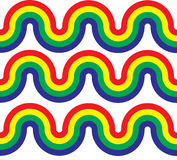 Rainbow Curve Waves Stock Image