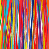 Rainbow curved stripes color line art vector background Stock Images