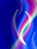 Rainbow curves Royalty Free Stock Photo