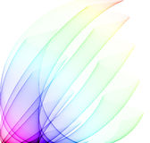 Rainbow Curves. Soft rainbow curves over white Stock Photography