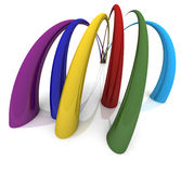 Rainbow curves. Liquid curves in the colors of the rainbow Stock Image