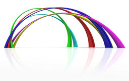 Rainbow curves Royalty Free Stock Images