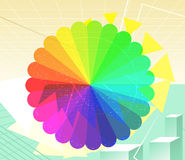 Rainbow cyber space. Rainbow Cyberspace Technology Background Vector Illustration cartoon Stock Photography