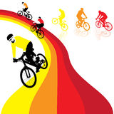 Rainbow_cycle Photographie stock libre de droits