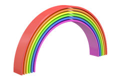 Rainbow, 3D rendering. On white background Royalty Free Illustration