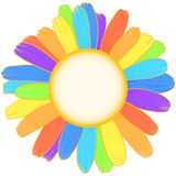 Rainbow daisy. Royalty Free Stock Image