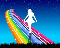 Rainbow dancer Royalty Free Stock Image