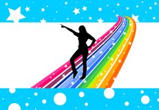 Rainbow dancer Royalty Free Stock Photos