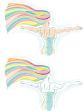 Rainbow dancer Stock Image