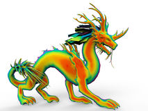 Rainbow dancing dragon Royalty Free Stock Images
