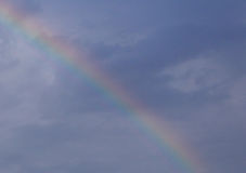 Rainbow. In dark blue sky Royalty Free Stock Photos