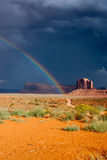 Rainbow after the Storm at Monument Valley Royalty Free Stock Image