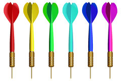 Rainbow darts Stock Photography