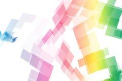 Rainbow Data Tech Blocks Stock Images