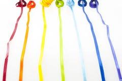 Rainbow dei nastri Fotografia Stock