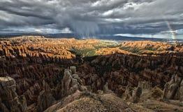 Rainbow del canyon di Bryce Fotografia Stock
