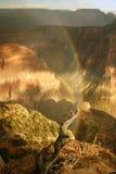Rainbow del cerchio sopra il grande canyon Immagine Stock Libera da Diritti