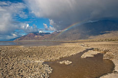 Rainbow del Death Valley Fotografia Stock