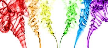Rainbow del fumo Fotografia Stock Libera da Diritti