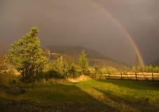 Rainbow del paese fotografia stock