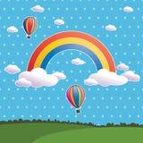 Rainbow del puntino di Polka illustrazione di stock