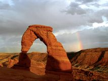 Rainbow Delicate Arch Utah Stock Images