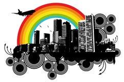 Rainbow della città Immagine Stock Libera da Diritti