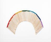 Rainbow della corrispondenza fotografie stock libere da diritti