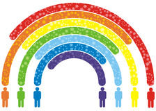 Rainbow della gente Fotografie Stock