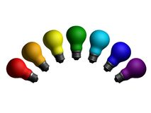 Rainbow della lampadina Immagine Stock
