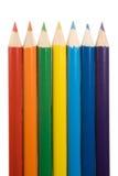 Rainbow della matita Fotografia Stock