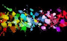 Rainbow della vernice dell'acquerello Fotografia Stock Libera da Diritti