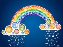 Rainbow delle icone Fotografie Stock Libere da Diritti