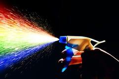Rainbow dello spruzzo d'acqua Fotografia Stock