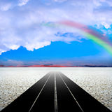 Rainbow on the desert Royalty Free Stock Photo