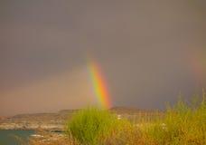 A rainbow in the desert Royalty Free Stock Photos