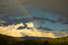 A rainbow in the desert Royalty Free Stock Photo