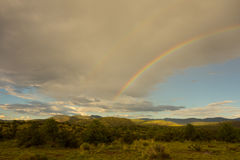 A rainbow in the desert Royalty Free Stock Images