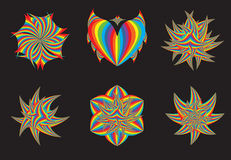 Rainbow design elements. Stock Photos